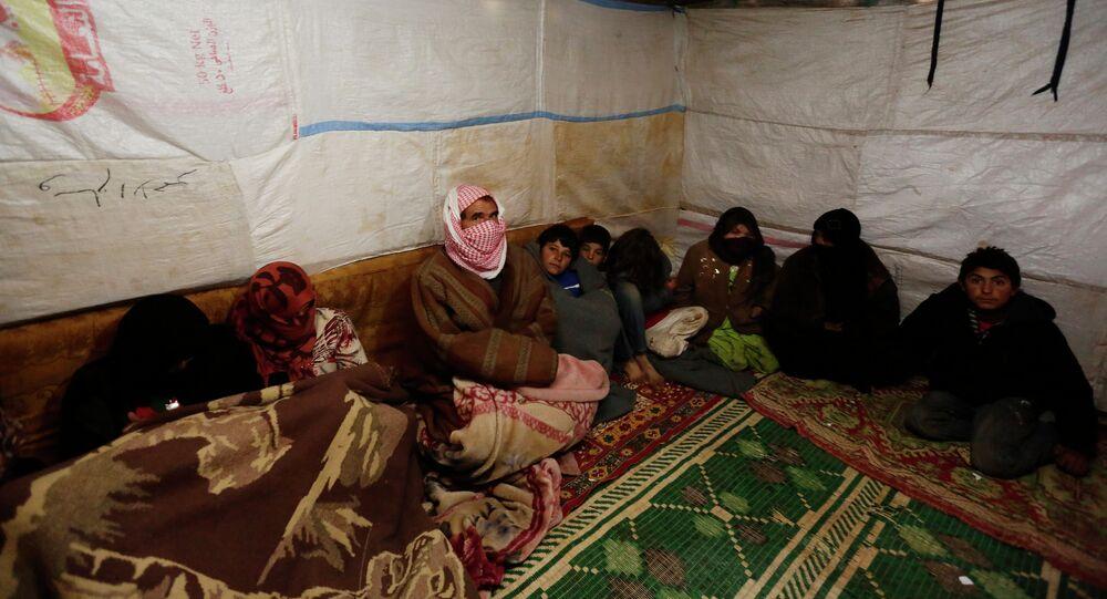 Refugee camp in al-Saadiyeh