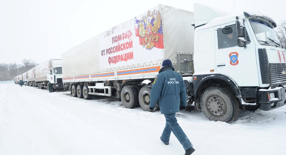 Russia will send the 14th humanitarian convoy to deliver more than 1,800 tons of humanitarian aid to Ukraine's southeastern regions of Donetsk and Luhansk, the Russian Emergencies Ministry reported Thursday.