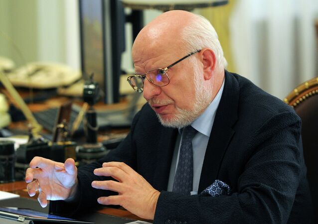 The presidential adviser Mikhail Fedotov, Chairman of the Presidential Council for Civil Society and Human Rights