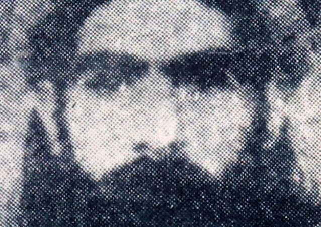 This undated file photo reportedly shows the Taliban supreme leader Mullah Omar