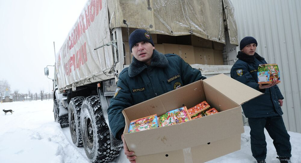 Russian trucks from the 11th convoy carrying humanitarian aid for conflict-torn eastern Ukraine, have arrived in the city of Luhansk