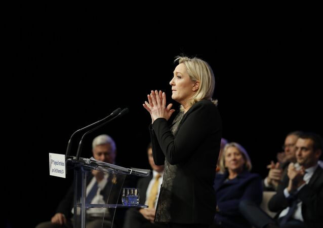 French far-right Front National leader Marine Le Pen