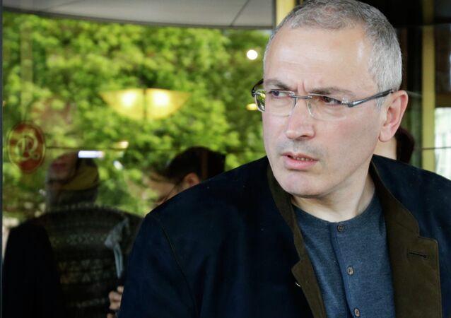 Mikhail Khodorkovsky meets with journalists in Donetsk
