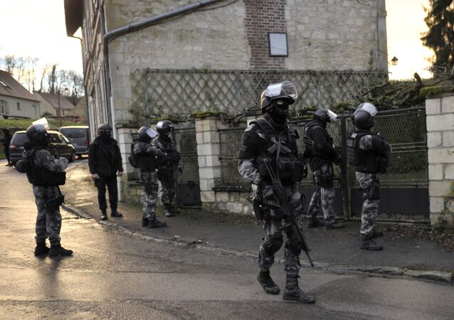 Members of the French police special force GIPN