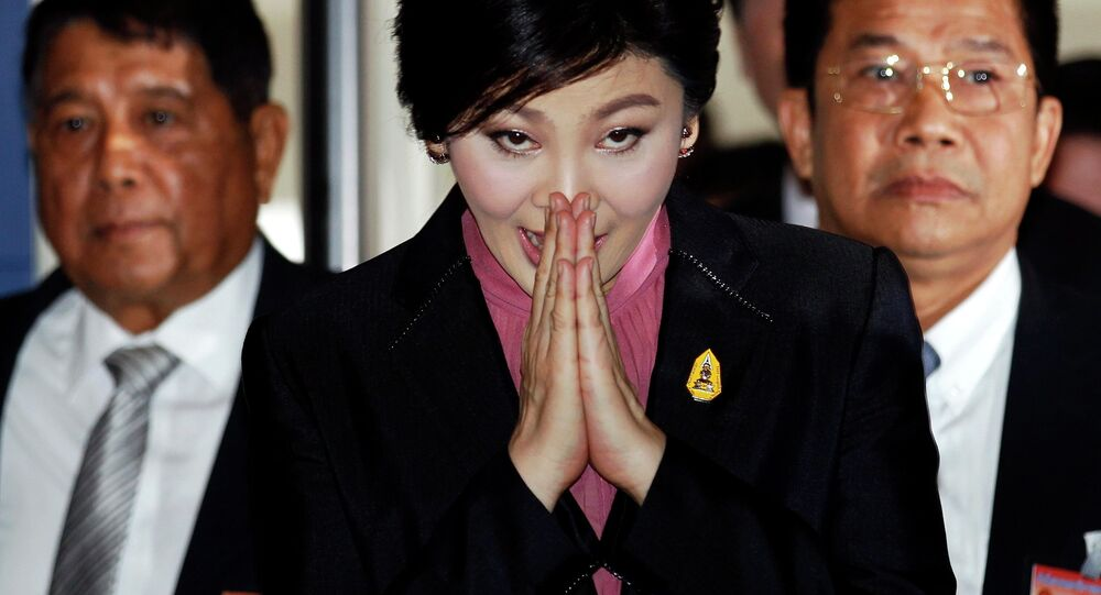 Ousted former Prime Minister Yingluck Shinawatra
