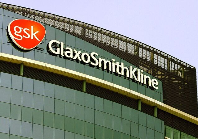 The company logo of GlaxoSmithKline, is seen on the headquarters building in a London file photo from May 10, 2006.