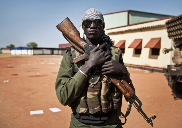A file photo showing a young South Sudanese government soldier