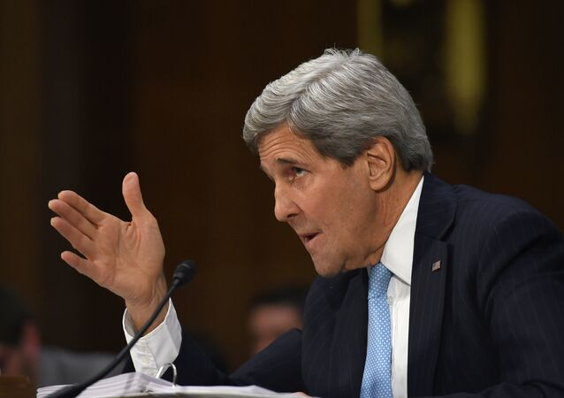 Secretary of State John Kerry testifies on Capitol Hill in Washington, Tuesday, Dec. 9, 2014