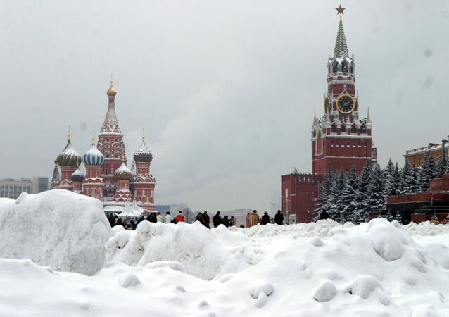 Moscow. Winter in Red Square