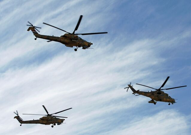 Iraqi Air Force helicopters