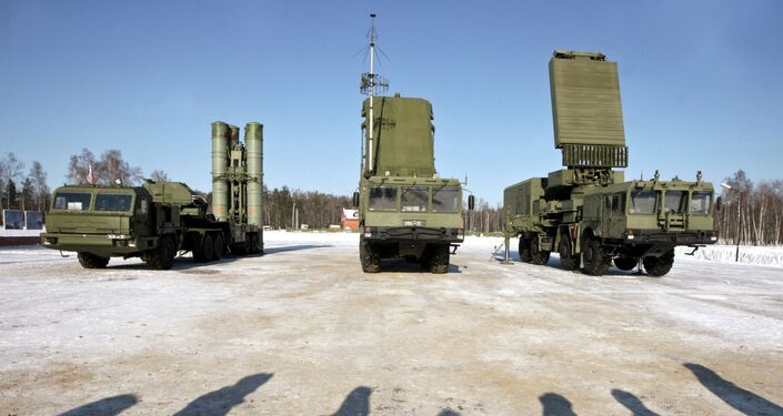 An S-400 surface-to-air missile [SAM] system
