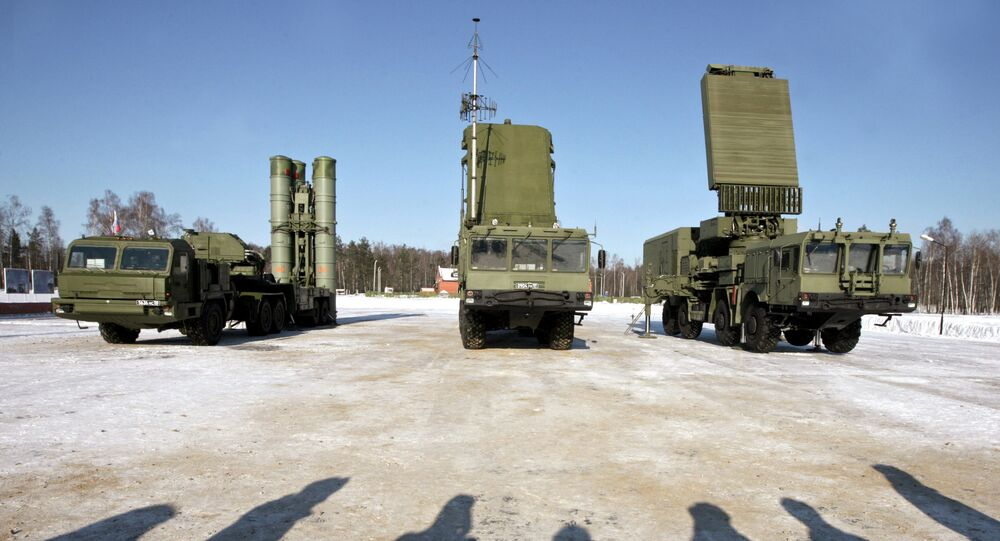 A S-400 surface-to-air missile system