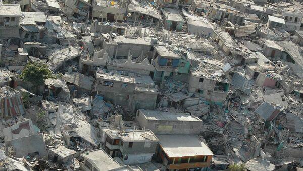 Collapsed buildings following earthquake, in Haiti's capital Port-au-Prince. (File) - Sputnik International