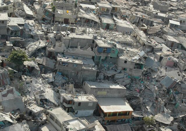 Collapsed buildings following earthquake, in Haiti's capital Port-au-Prince. (File)