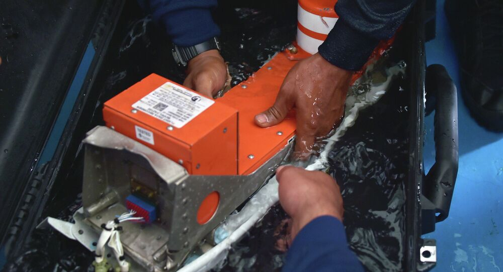 The FDR (Flight Data Recorder) of the AirAsia flight QZ8501