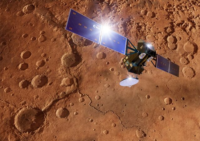 ExoMars TGO spacecraft at Mars, artwork