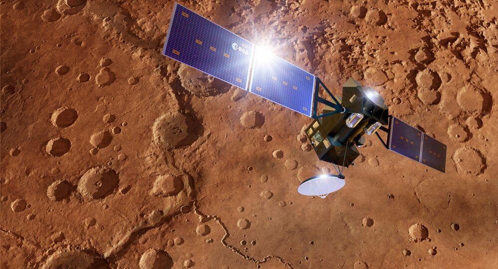 ExoMars TGO spacecraft at Mars, artwork