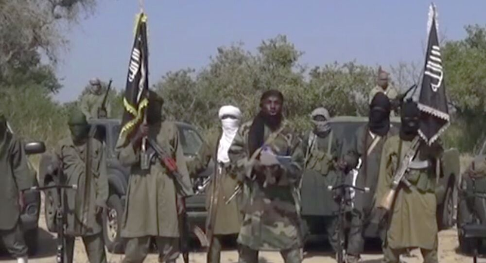 Image taken from video by Nigeria's Boko Haram terrorist network