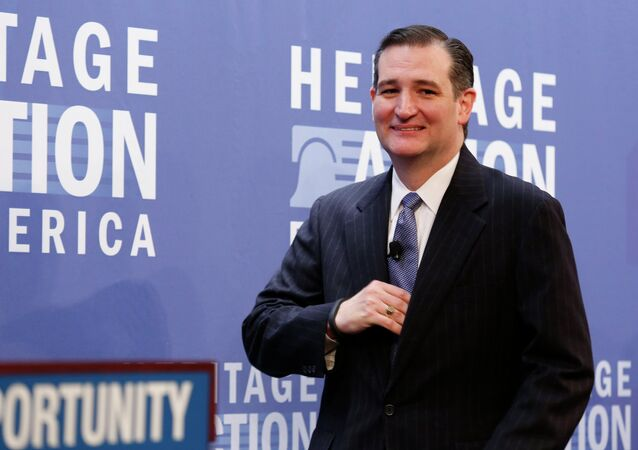 Sen. Ted Cruz (R-TX) arrives to address the Heritage Action's second annual Conservative Policy Summit in Washington