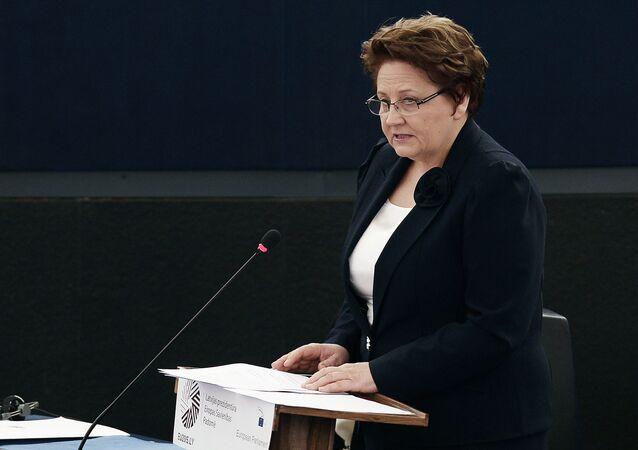 Latvian Prime Minister Laimdota Straujuma