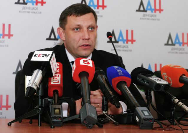 Head of the self-proclaimed Donetsk People's Republic (DPR) Alexander Zakharchenko