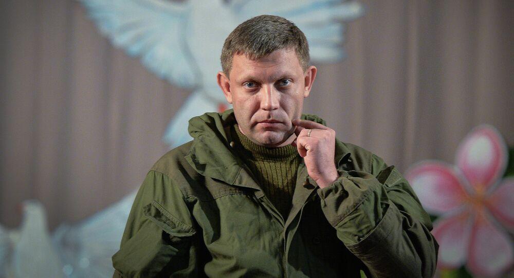 Leader of the eastern Ukrainian self-proclaimed Donetsk People's Republic Alexander Zakharchenko