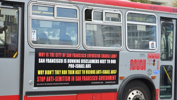 As many as 50 San Francisco buses now feature controversial ads equating Islam with Nazism and showing an image of Adolf Hitler and Haj Amin al-Husseini, a 20th Century Palestinian Muslim leader who opposed Zionism, with the words, Islamic Jew-Hatred: It's In The Quran. - Sputnik International