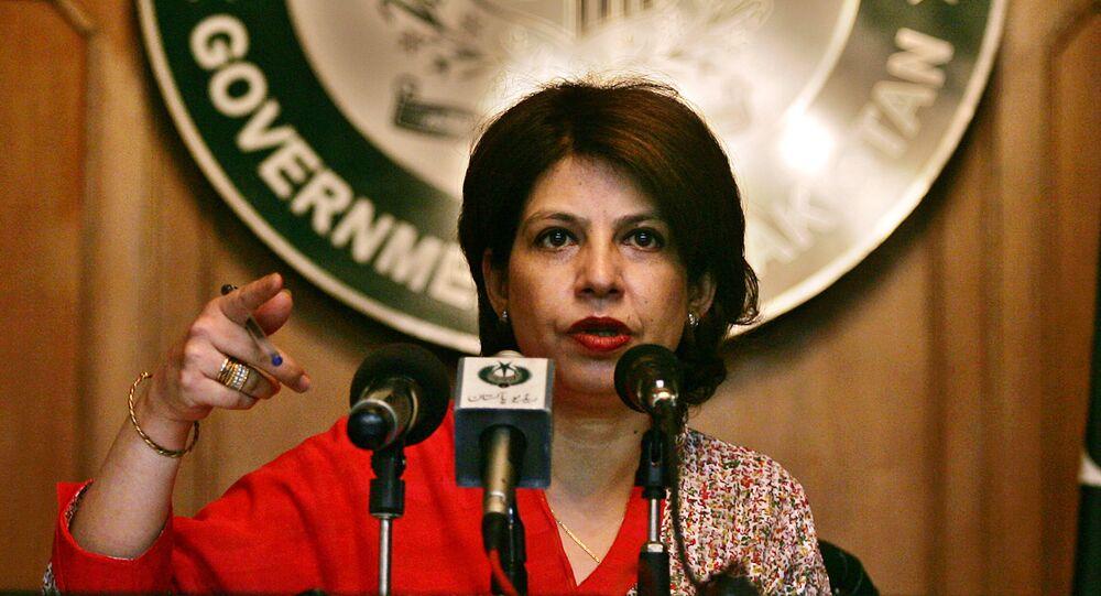 Pakistani foreign ministry spokeswoman Tasneem Aslam
