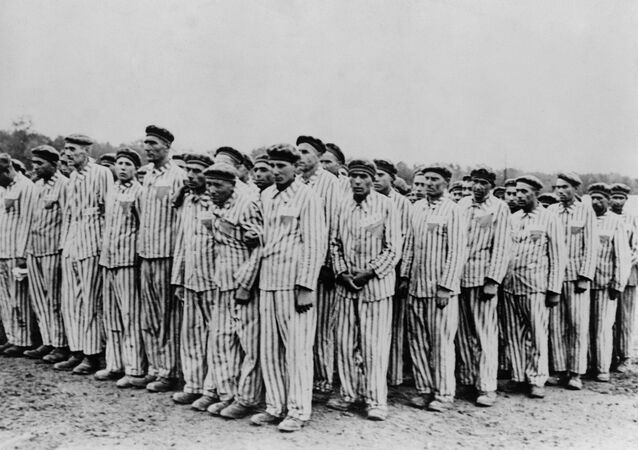Roll call at Buchenwald concentration camp