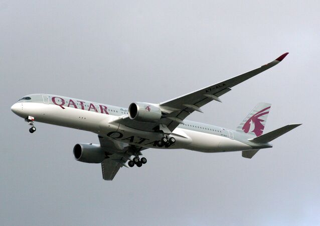 Qatar Airways' new Airbus A350 made its debut flight from Doha to Frankfurt on Thursday