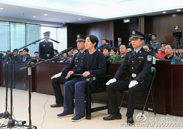 Jaycee Chan, the son of kung fu movie star Jackie Chan, was jailed for six months in China on Friday on a drugs charge, the latest celebrity felled by the government's aggressive anti-narcotics campaign.
