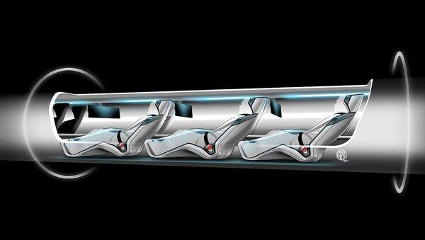 Hyperloop capsule with passengers onboard - Sputnik International