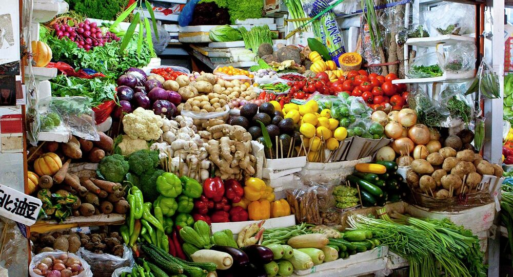 Vegetable stall in a Market