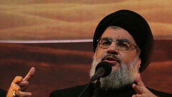 Hezbollah leader Sheik Hassan Nasrallah - Sputnik International