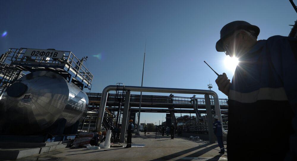 Gazprom Oil refinery facilities