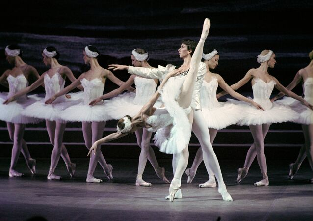 A scene from the Swan Lake opera. The gala concert dedicated to the 225th anniversary of the State Academic Bolshoi Theatre of Russia.