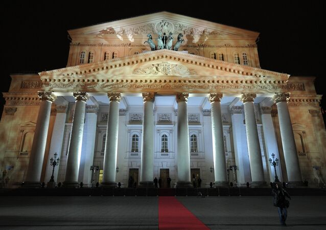 The main building of the Bolshoi Theatre in Moscow.
