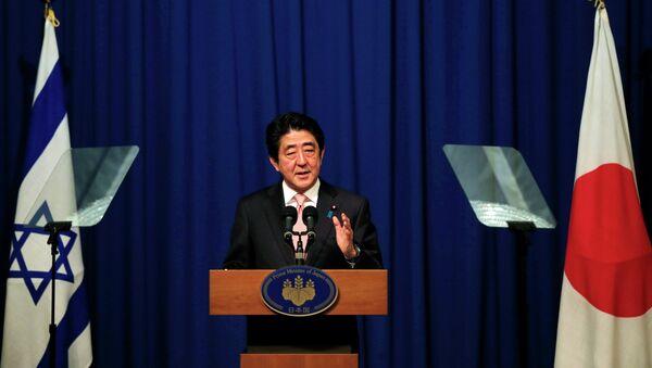 Japanese Prime Minister Shinzo Abe holds a news conference in Jerusalem January 20, 2015. - Sputnik International