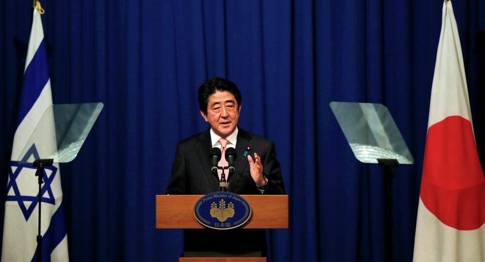 Japanese Prime Minister Shinzo Abe holds a news conference in Jerusalem January 20, 2015.