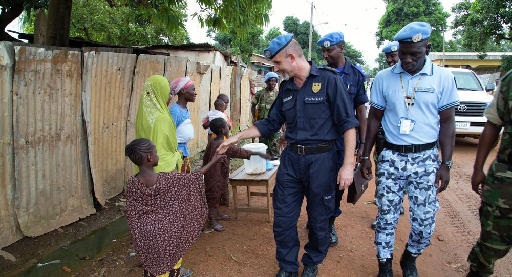 MINUSCA Police Commissioner on Foot Patrol in Bangui