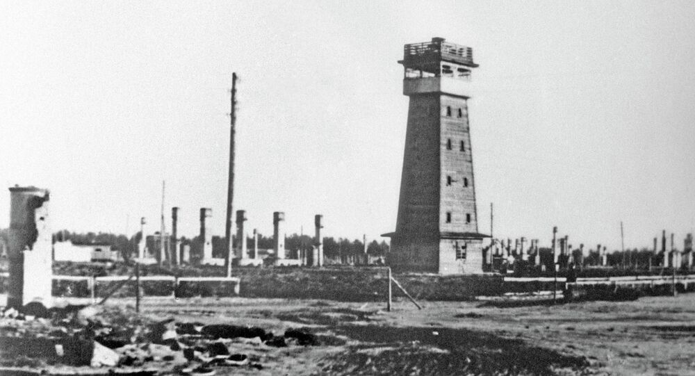 The Salaspils concentration camp, in which hundreds of thousands of people of Riga and other cities were killed during the Nazi occupation of Latvia.