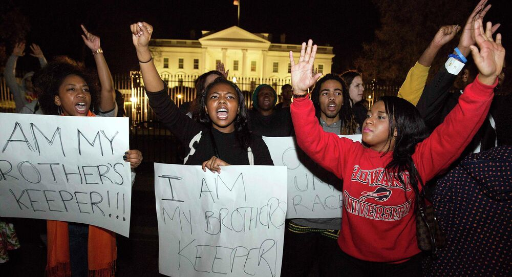 Tensions over police tactics and alleged racism in the force were heightened in the US on Thursday