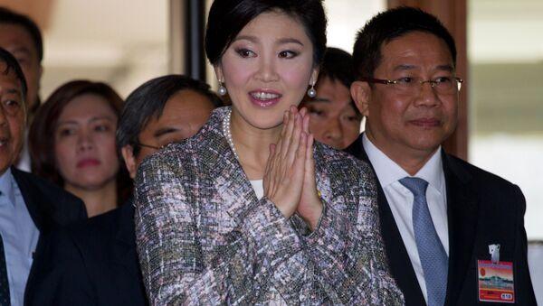 Thailand's former Prime Minister Yingluck Shinawatra arrives at parliament in Bangkok, Thailand Thursday, Jan. 22, 2015 - Sputnik International