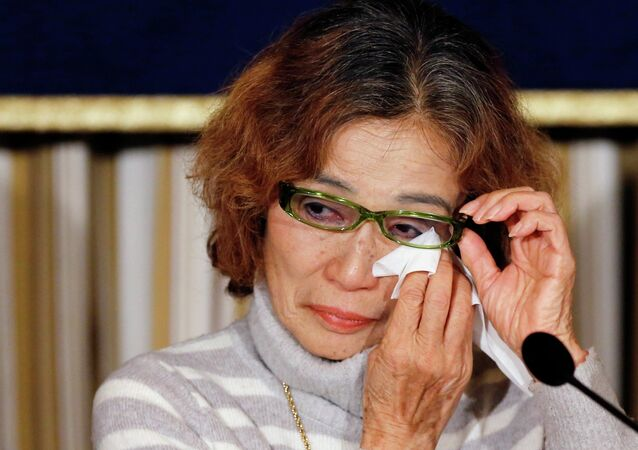 Junko Ishido, mother of Kenji Goto, one of the two hostages being held for ransom by the Islamic State militant group.