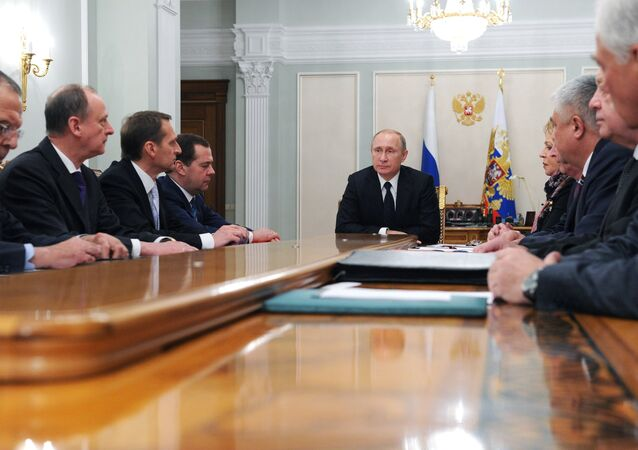 President Vladimir Putin holds Russian Security Council meeting