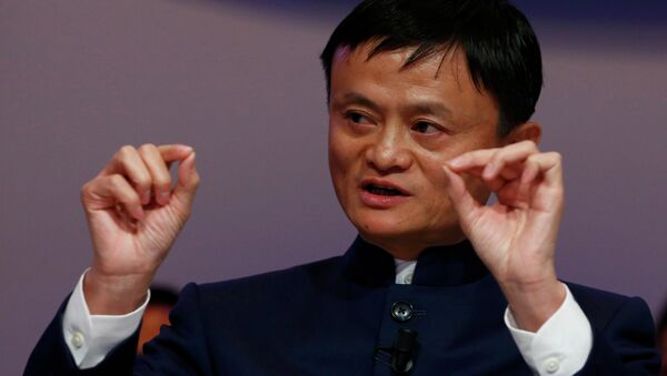 Jack Ma, Founder and Executive Chairman of Alibaba Group, speaks during the session 'An Insight, An Idea with Jack Ma' in the Swiss mountain resort of Davos January 23, 2015 - Sputnik International