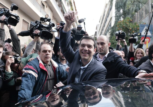 The leader of Greece's left-wing Syriza party Alexis Tsipras