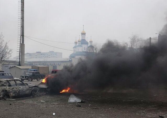 The Mayor of Ukraine's Mariupol Yuriy Khotlubei announced January 26 and 27 days of mourning for those killed by Saturday shelling