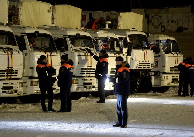 Russia is forming yet another convoy that will deliver humanitarian aid to Ukraine's conflict-torn southeast (Donbas)