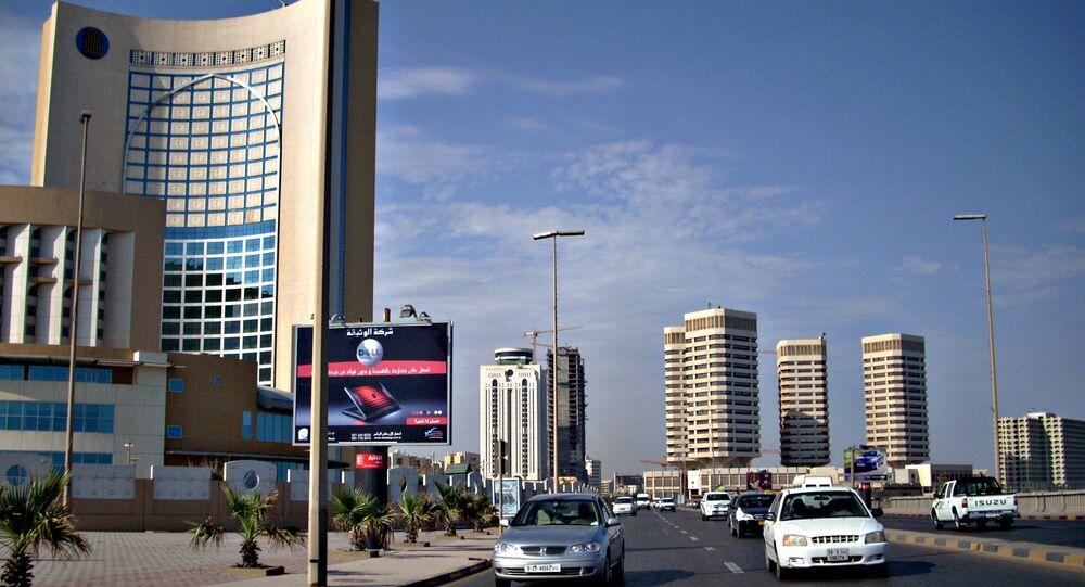 Office and hotel towers along Shari' al Corniche, Tripoli, Lybia.